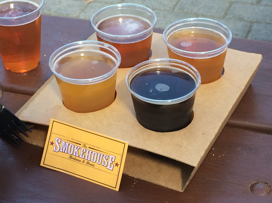 2014 epcot international flower and garden festival outdoor kitchen smokehouse beer sampler