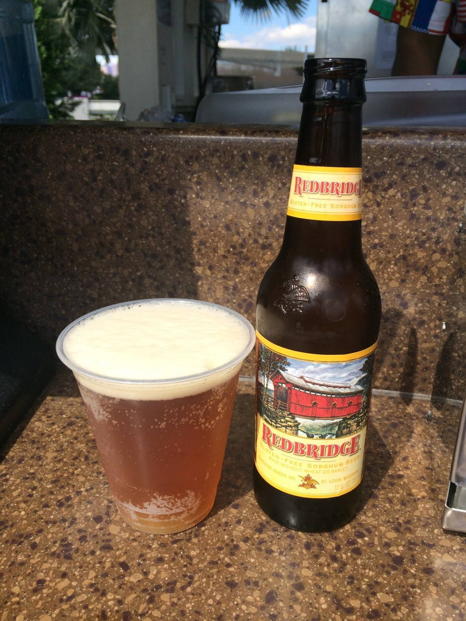 2014 epcot international flower and garden festival  urban farm eats Redbridge Gluten-Free Sorghum Beer