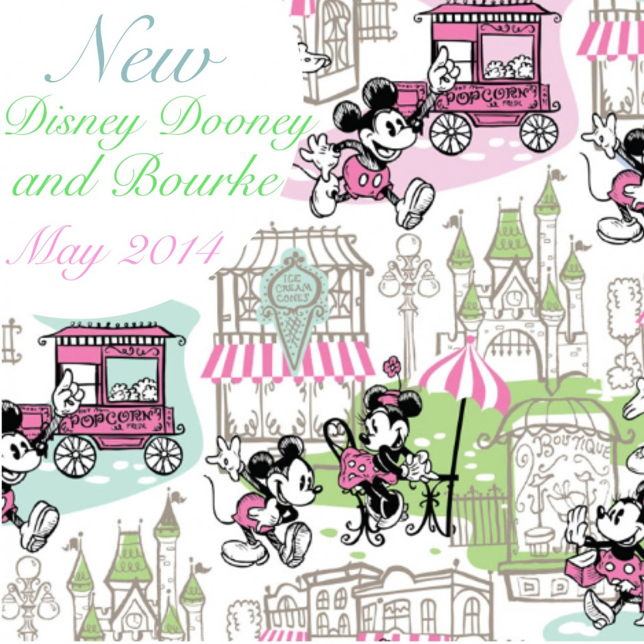 disney dooney and bourke may 2014 mickey minnie popcorn cart pastel