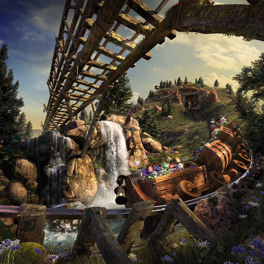 CGI Ride Through of the Seven Dwarfs Mine Train at the Magic Kingdom