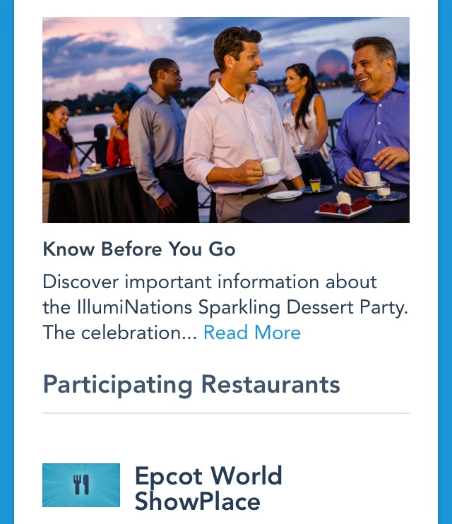 2014 Epcot IllumiNations Sparkling Dessert Party Review