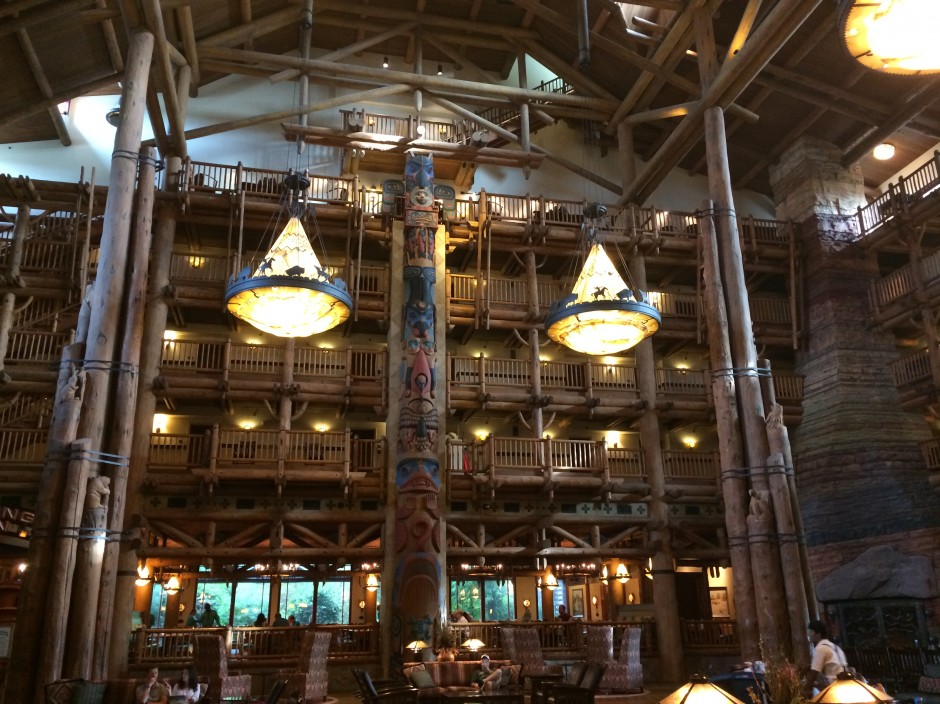 Disney wilderness lodge resort lobby