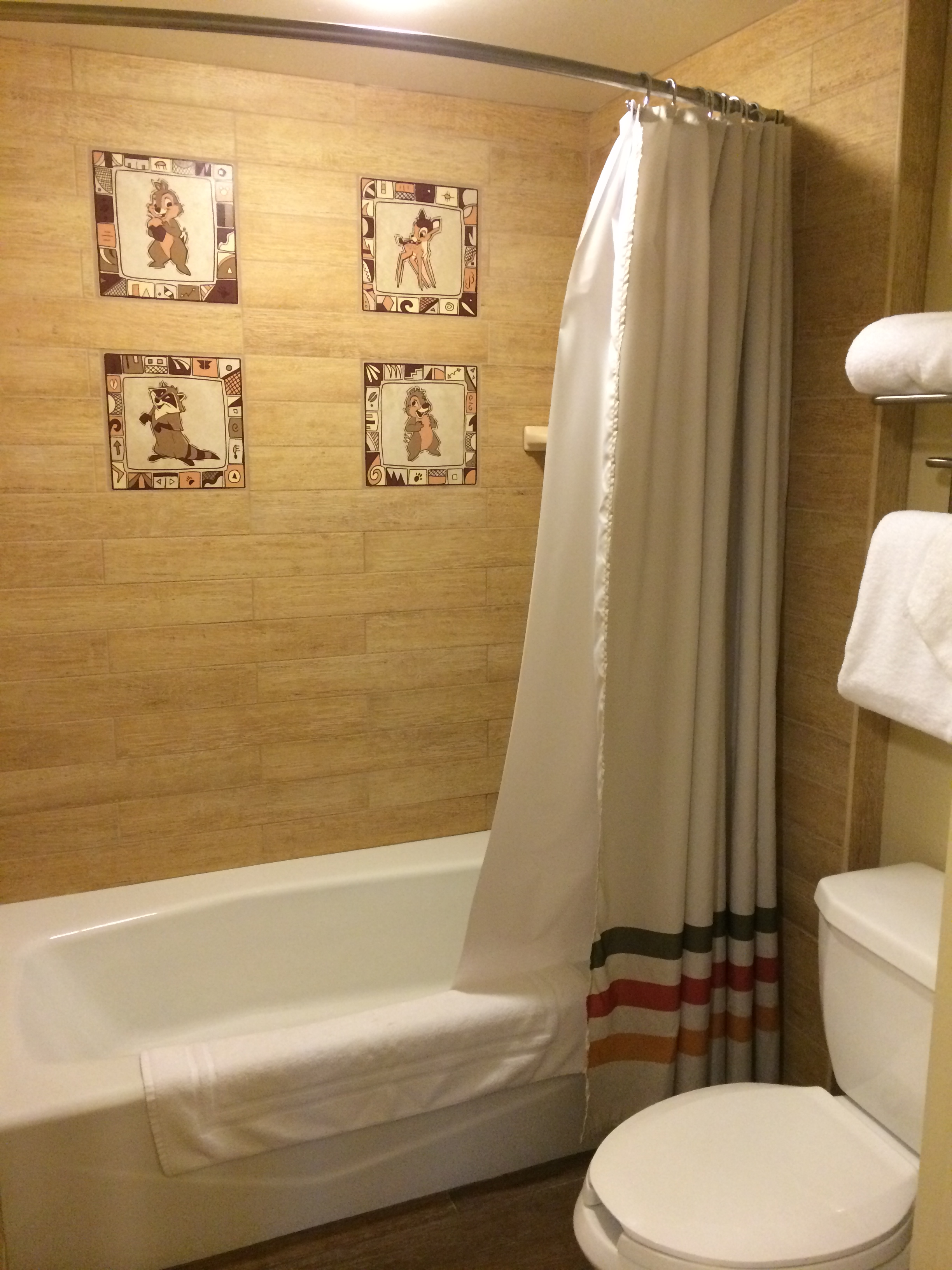 Disney Bathroom Room Photos From Our Recent Stay At Disneys Wilderness Lodge