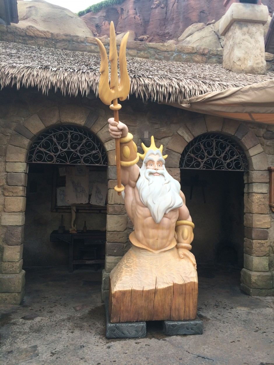 Seafarers Wood Carving New Fantasyland magic kingdom king triton