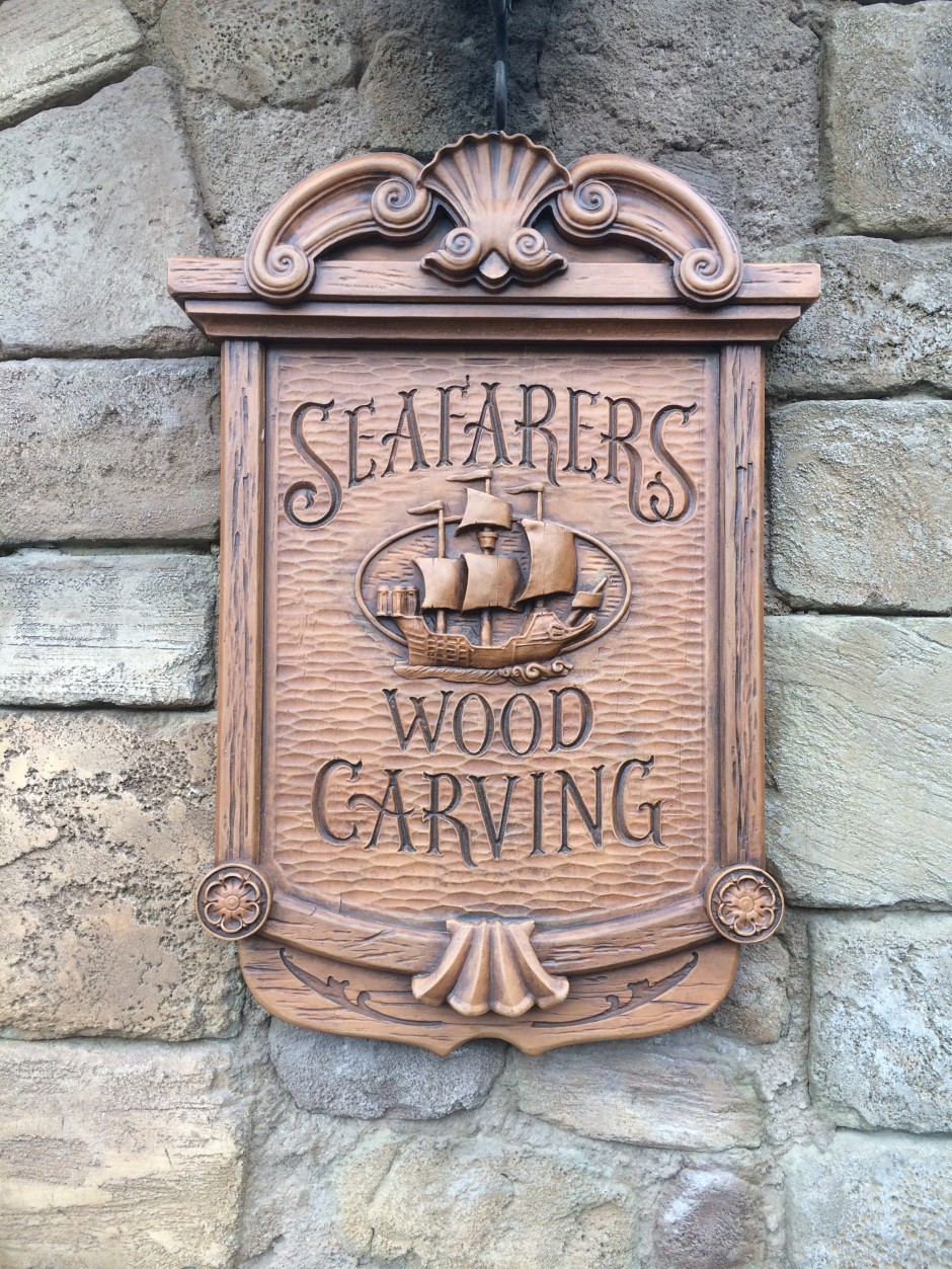 Seafarers Wood Carving New Fantasyland magic kingdom