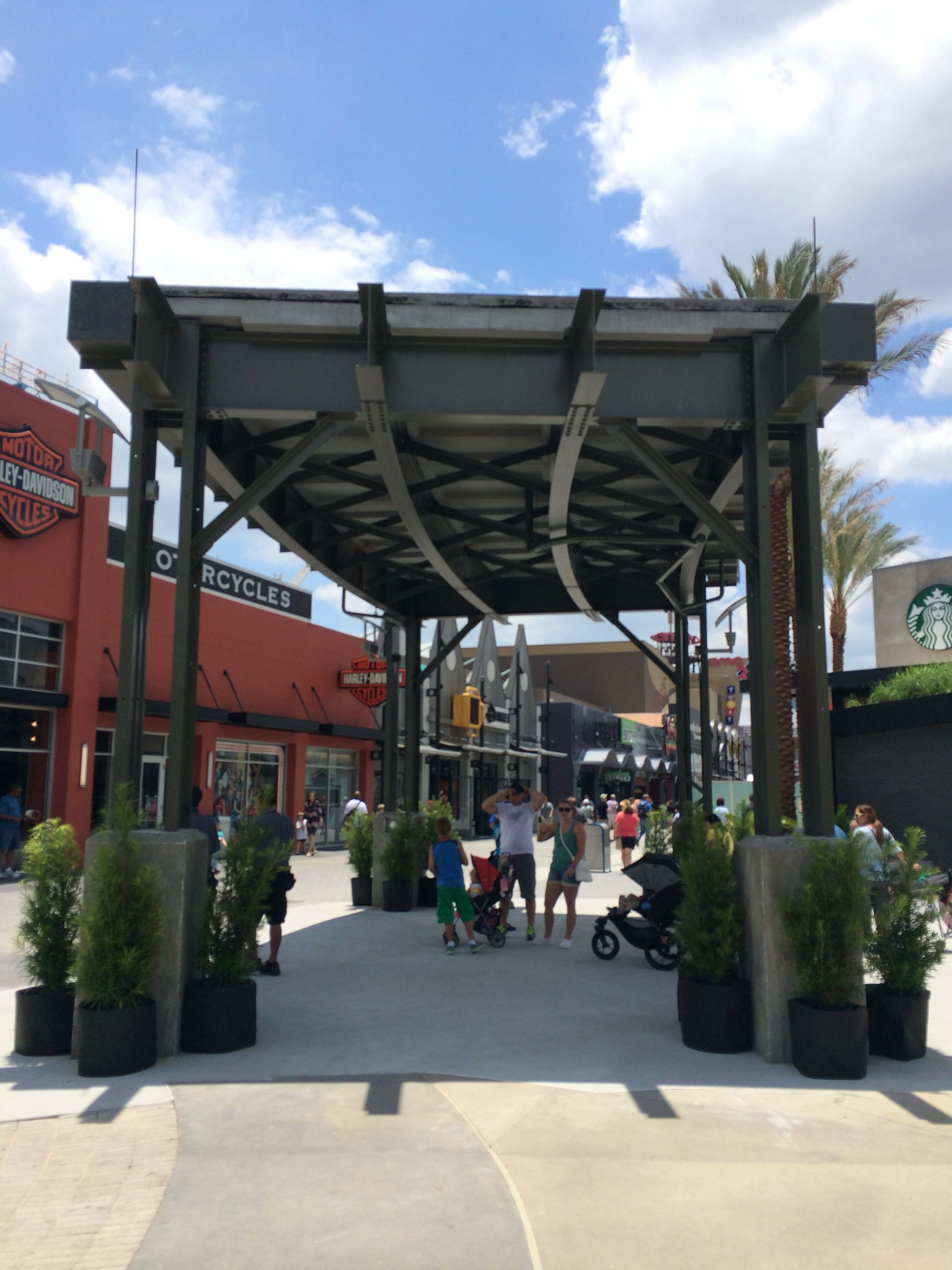 Disney Springs Shaded Walkway Taking Shape As First Piece