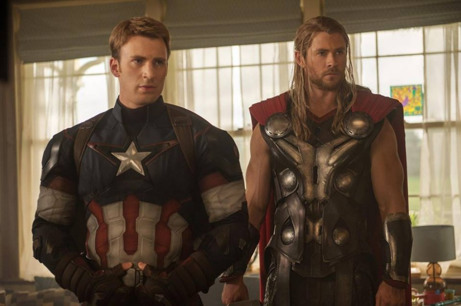 Marvel Avengers Age of Ultron Thor and Captain America