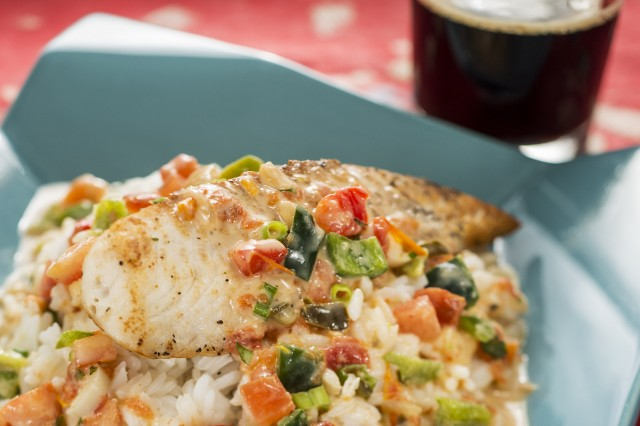 Mocequa de Pescado -- Regal Springs Premium Tilapia with Coconut Lime Sauce and Steamed Rice