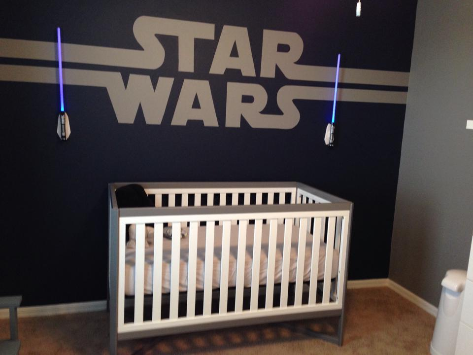 Star Wars Baby Nursery Design Layout Wall Art