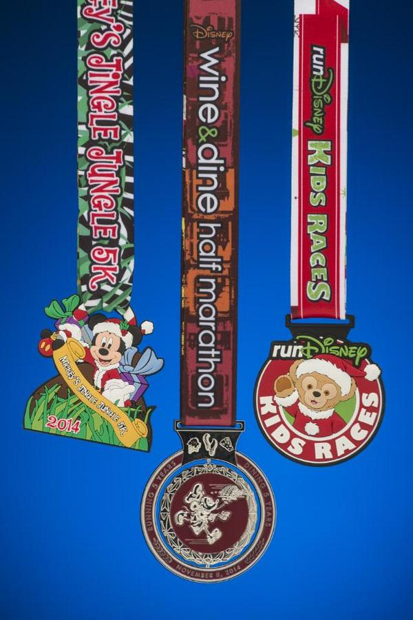 First Look at the Finisher Medals for the 2014 Disney Wine & Dine Half Marathon, runDisney Kids Races and Mickey's Jingle Jungle 5K