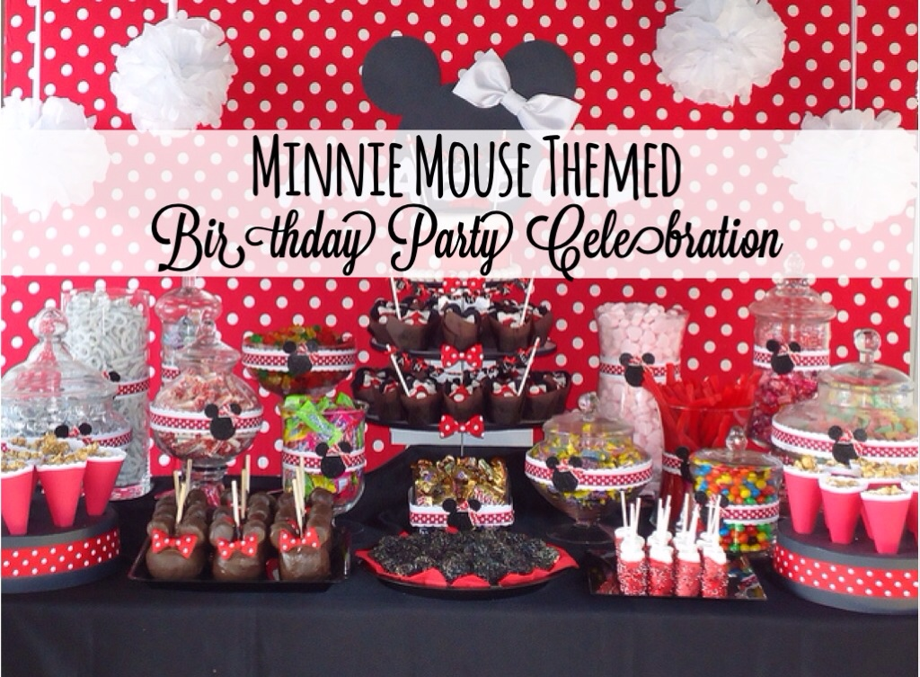 Minnie Mouse Themed Birthday Party Celebration Disney Every Day