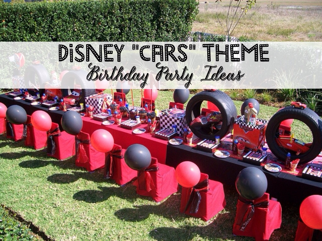 Disney Pixar Cars Theme Birthday Party Idea on race car wedding theme