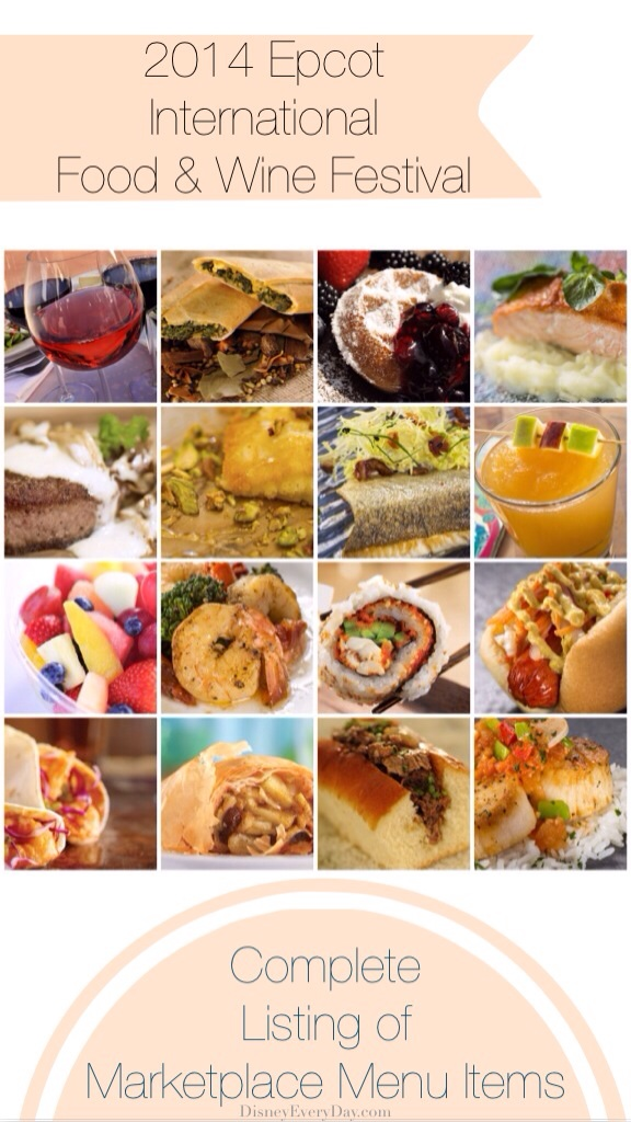 2014 Epcot International Food and Wine Festival at Walt Disney World – Complete Listing of Marketplace Booth Menu Items
