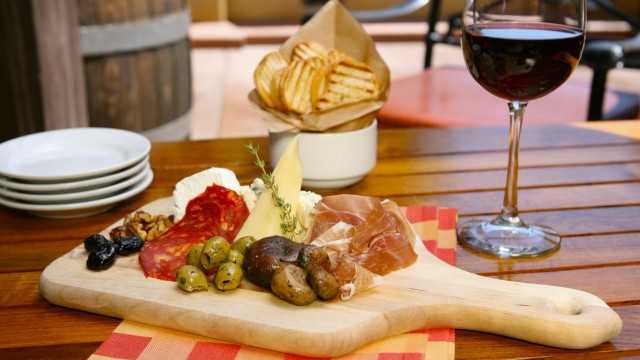 Charcuterie Plate with Wine - Alfresco Tasting Terrace at DCA