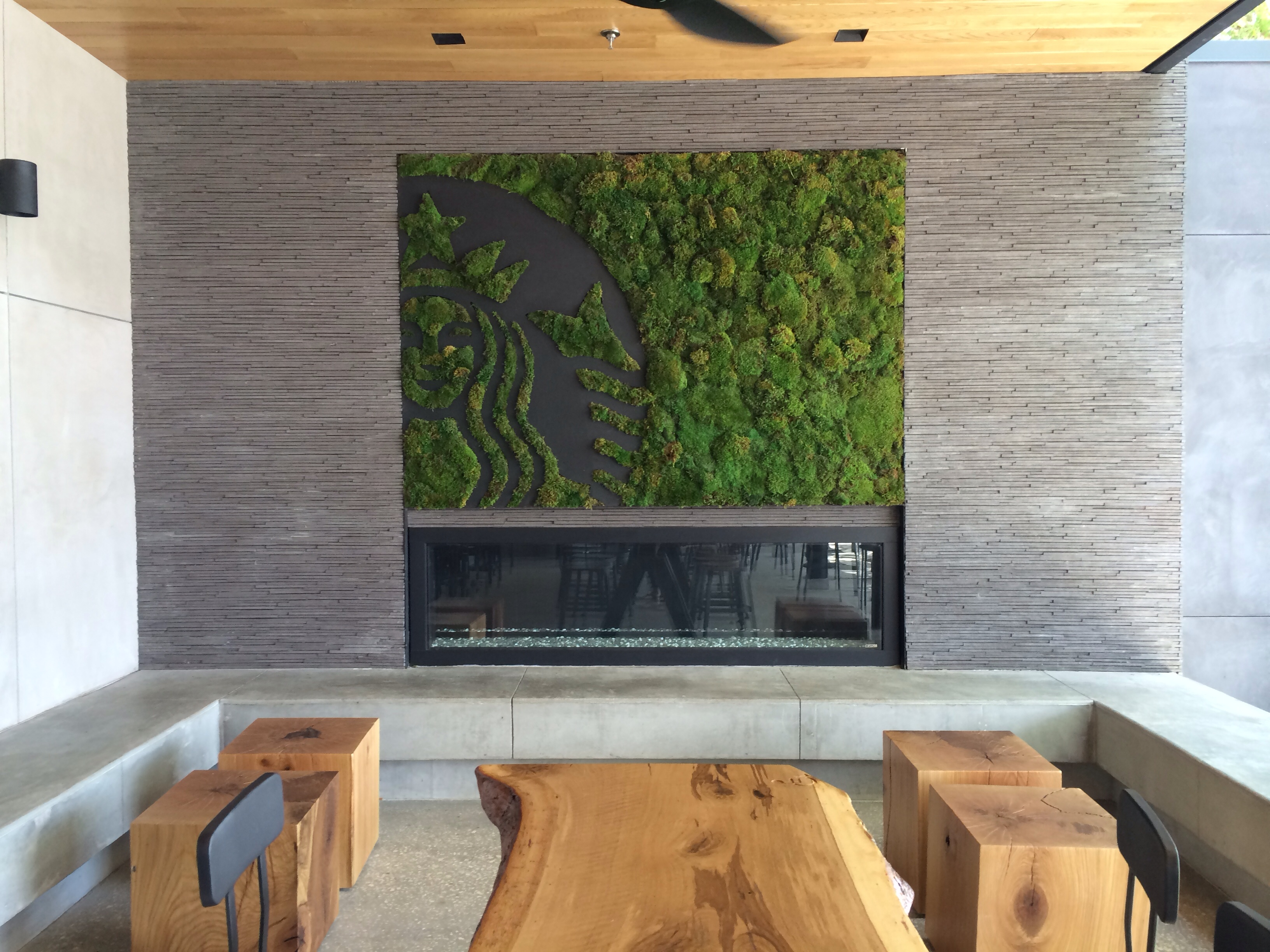 Because Nothing Says Coffee and Disney Like a Moss Fireplace in ...