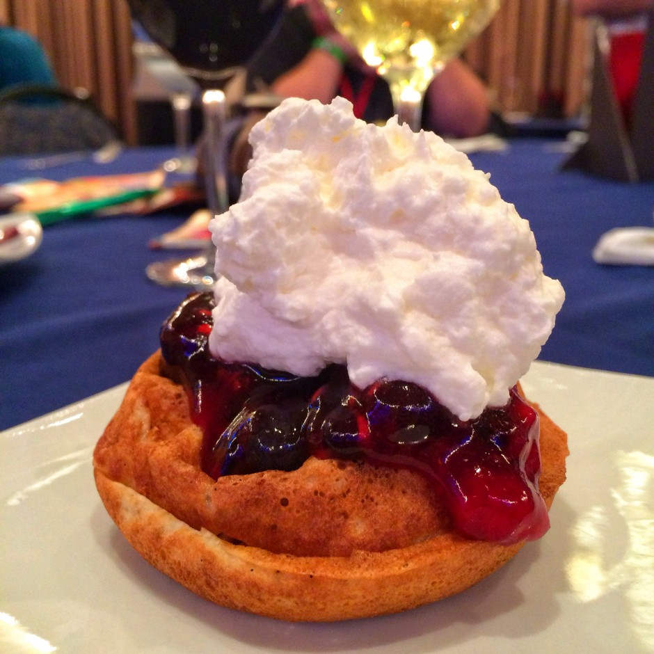 2014 Epcot International Food and Wine Festival - Waffle with Berry Compote and Whipped Cream