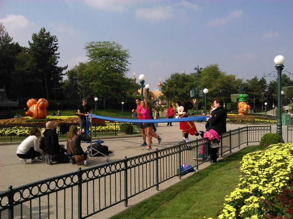 runDisney Caught Filming in Disneyland Paris for the Upcoming Half Marathon