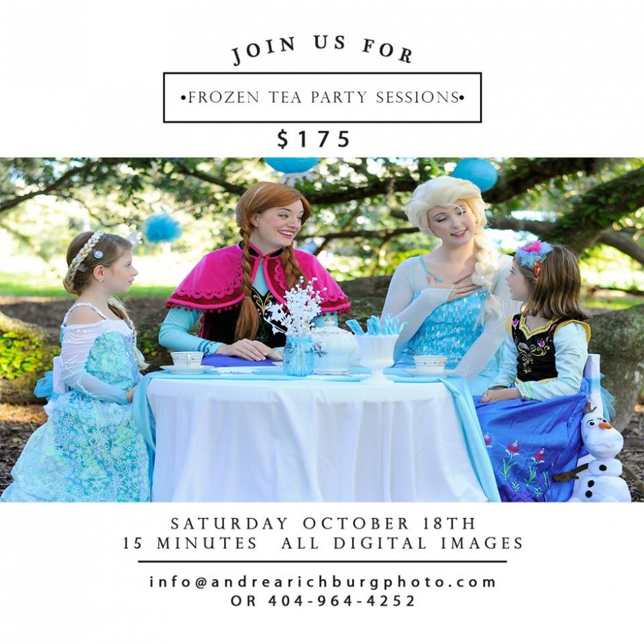 "Disney ""Frozen"" Tea Party Photography Session for Your Little Princess"