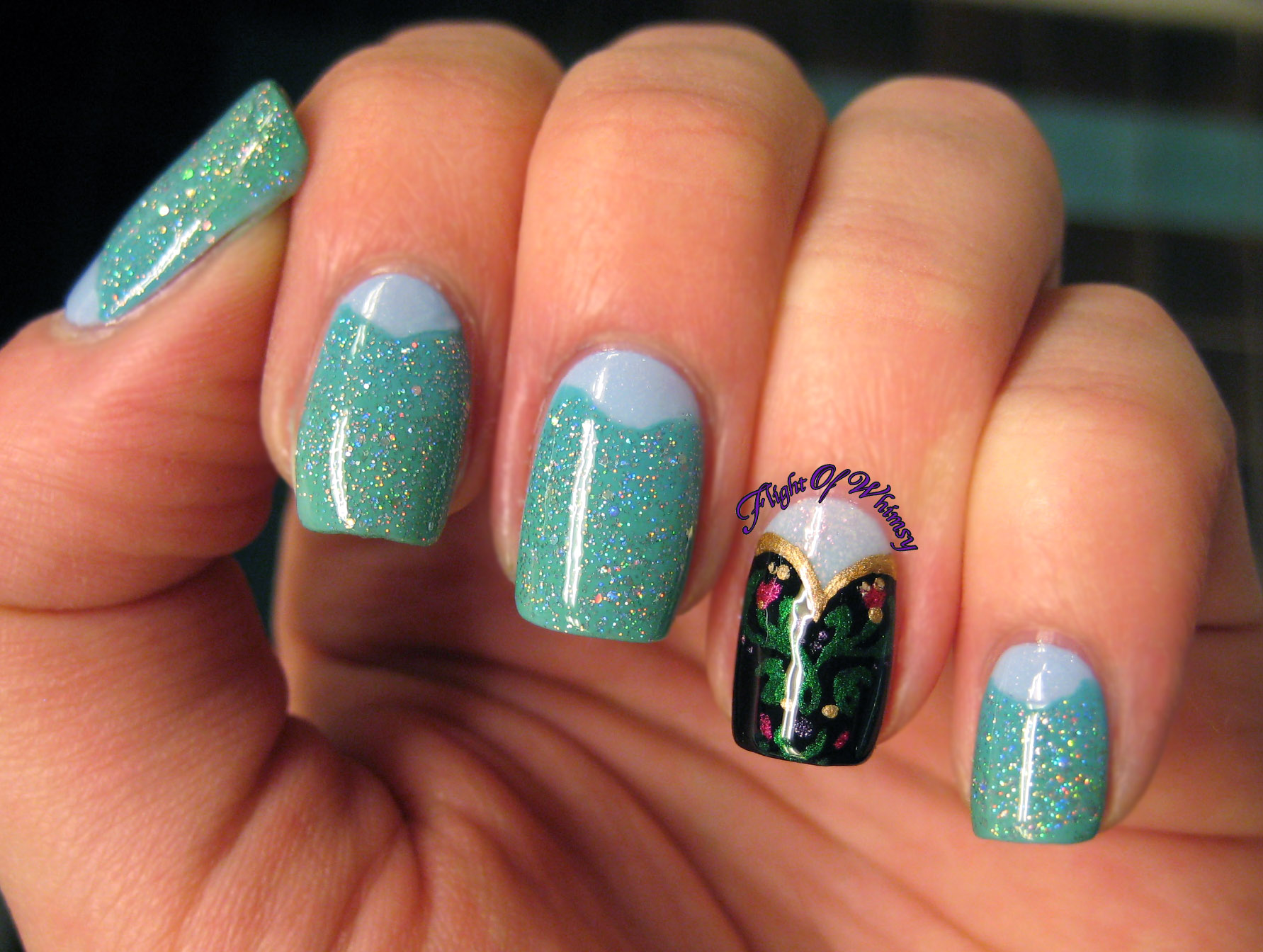 "Disney ""Frozen"" Nail Art Manicure 