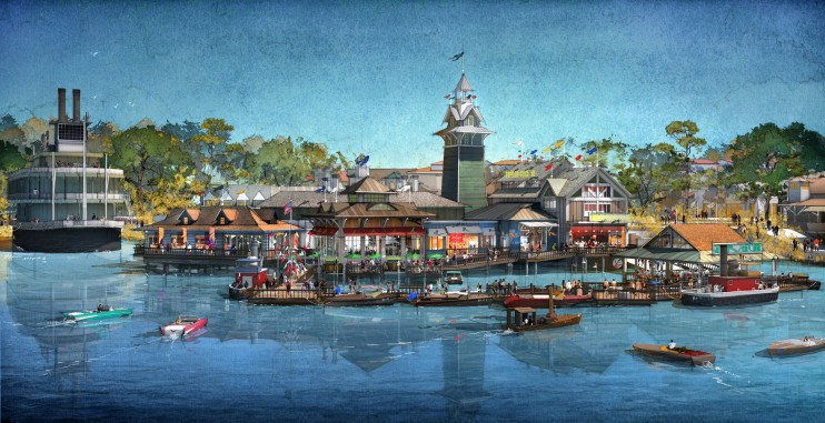 Concept Art for a New Waterfront Restaurant at the Walt Disney World Resort