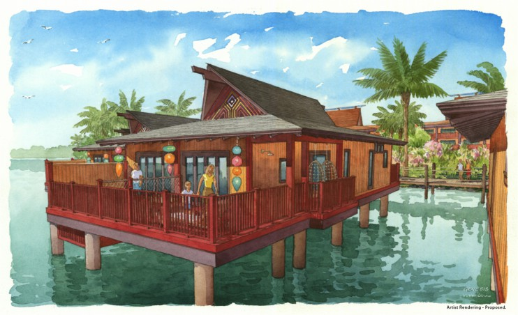 Artist Renderings for Disney's Polynesian Villas & Bungalows Opening in 2015