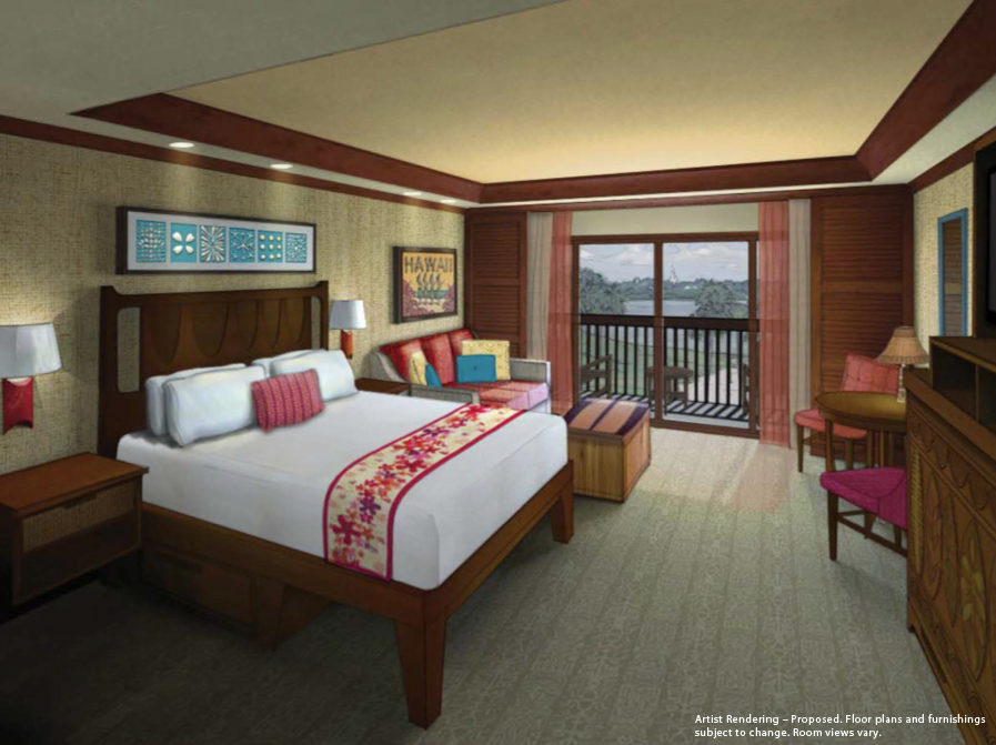 DVC Concept Art for a Deluxe Studio at Disney's Polynesian Village Resort