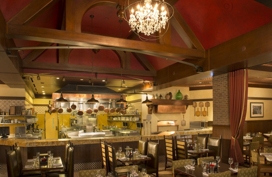 Trattoria al Forno Kitchen at the Walt Disney World Boardwalk