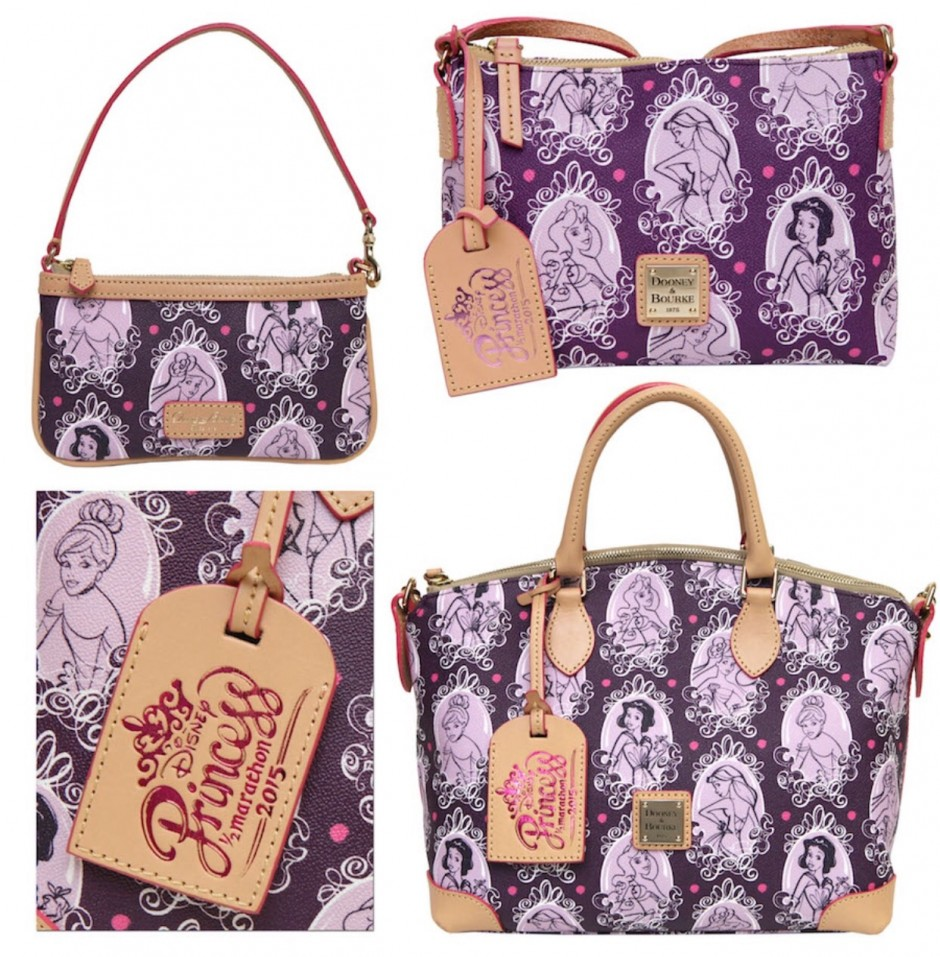 New 2015 runDisney Princess Half Marathon Disney Dooney and Bourke Bags