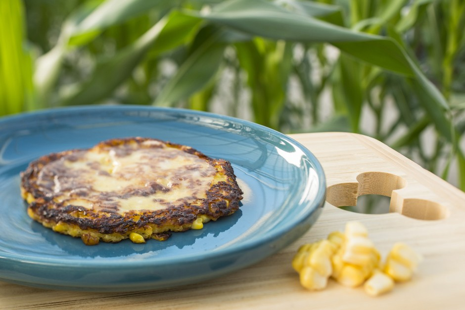 Cachapas with Farmers Cheese