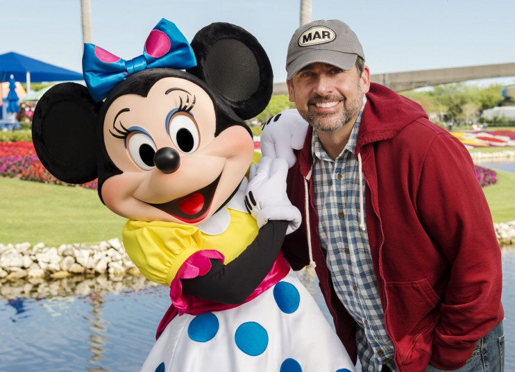 Actor Steve Carell Spotted at Walt Disney World Resort in Orlando