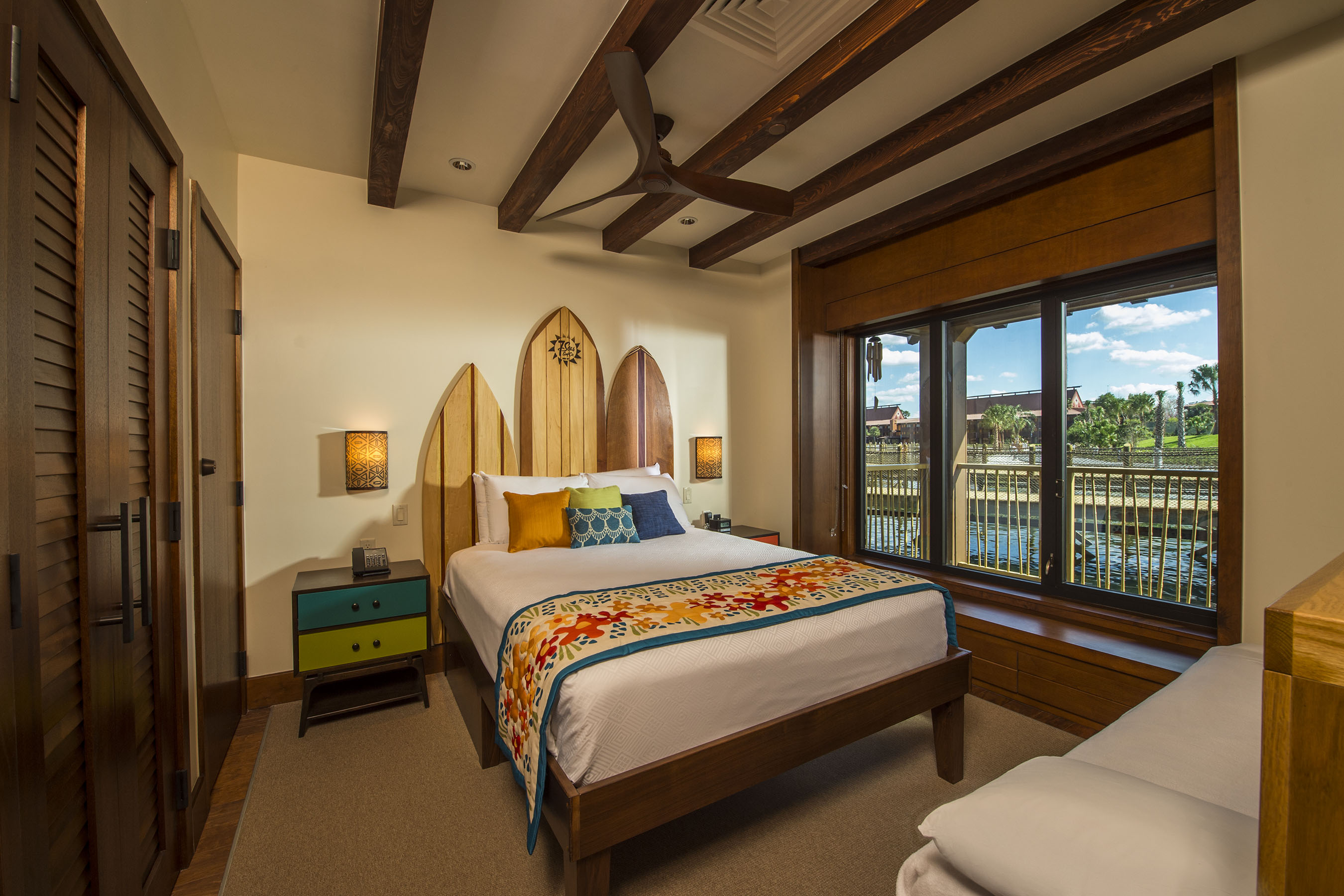 Surf Themed Bedroom Photo Tour Of The Bora Bora Bungalows At Disney S