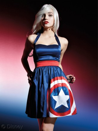 MARVEL Avengers Her Universe Captain America Halter Dress