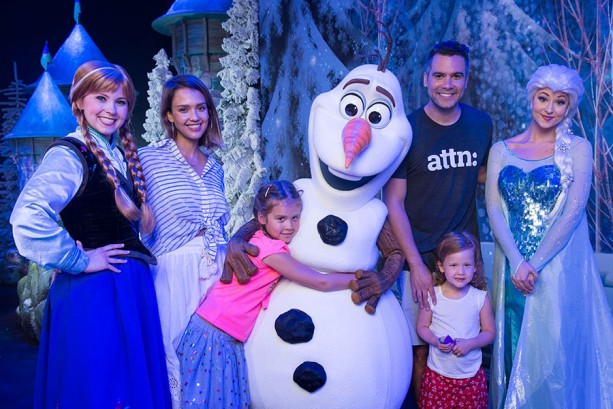 Jessica Alba Spotted at Walt Disney World