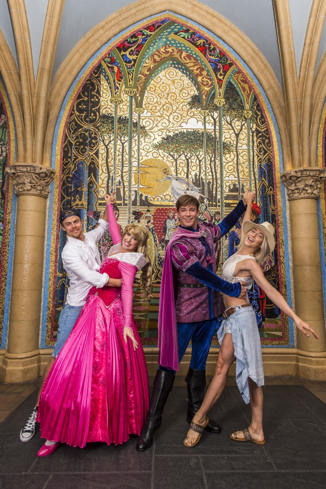 Derek and Julianne Hough Cut a Rug with Princess Aurora and Prince Phillip