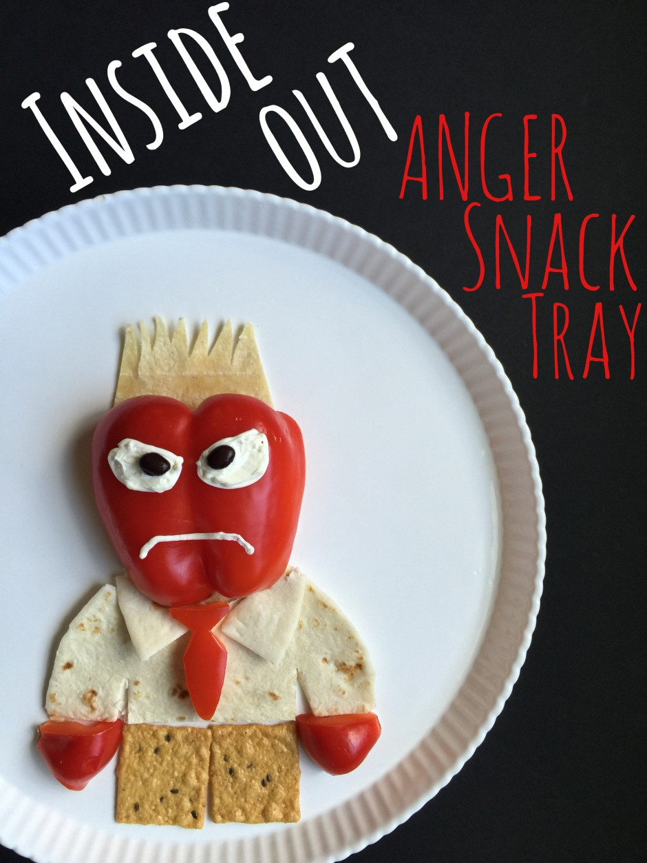 """Disney """"Inside Out"""" ANGER Healthy After School Snack"""
