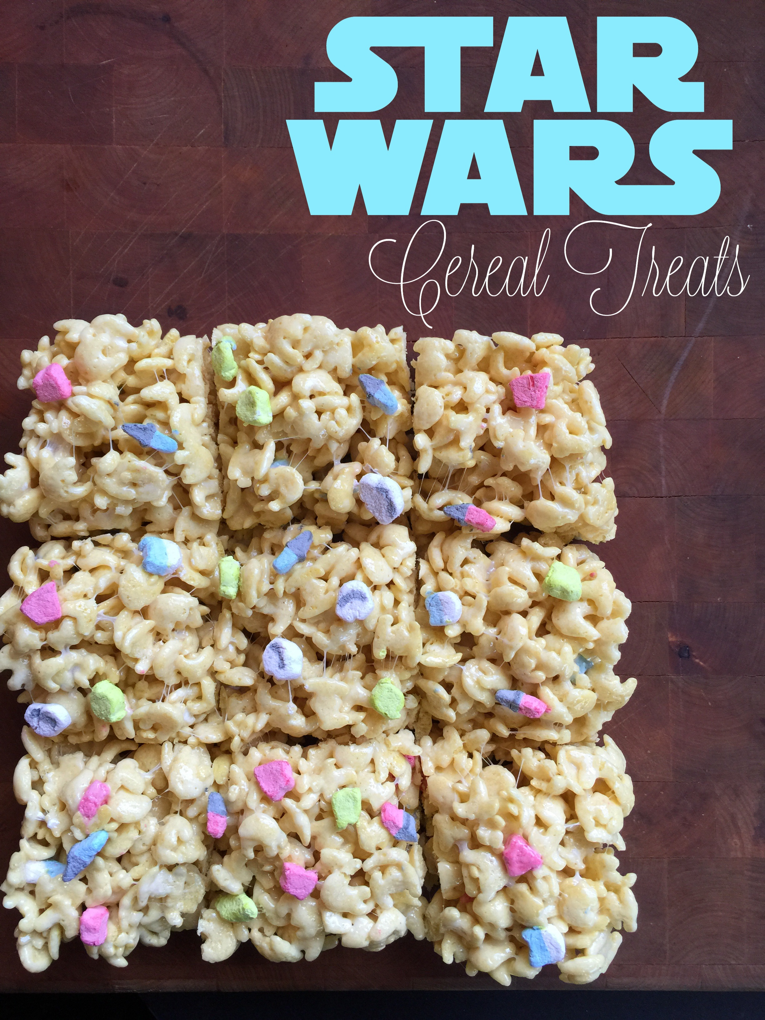Star Wars Marshmallow Cereal Treat Bars Disney Every Day
