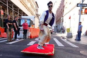 Aladdin Magic Carpet Ride Prank Through the Streets of New York City