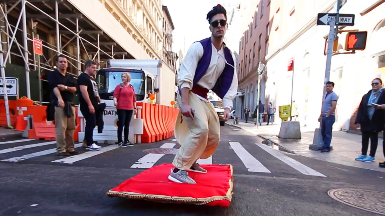 Aladdin Magic Carpet Ride Prank Through The Streets Of New