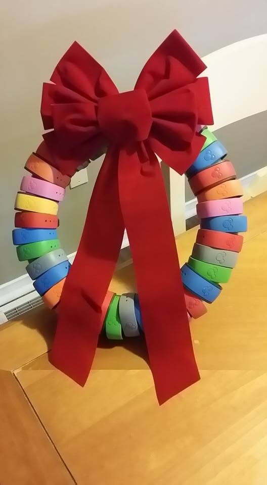 Disney Magic Band Christmas Wreath