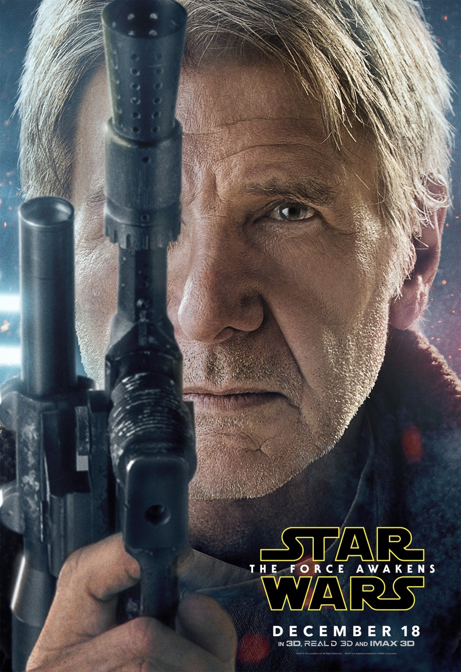 Star Wars: The Force Awakens Movie Poster - Han Solo