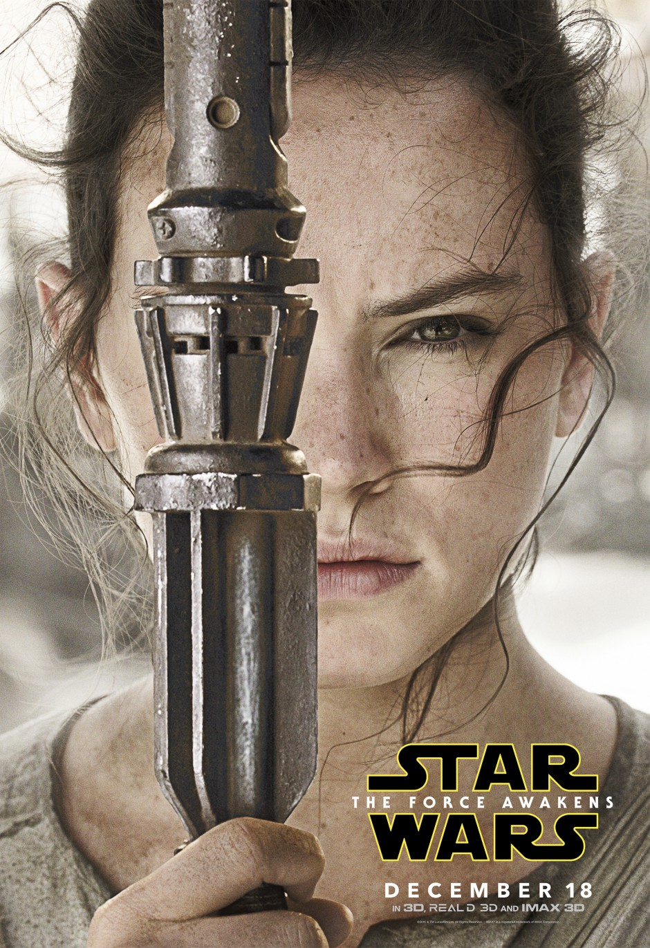 Star Wars: The Force Awakens Movie Poster - Rey