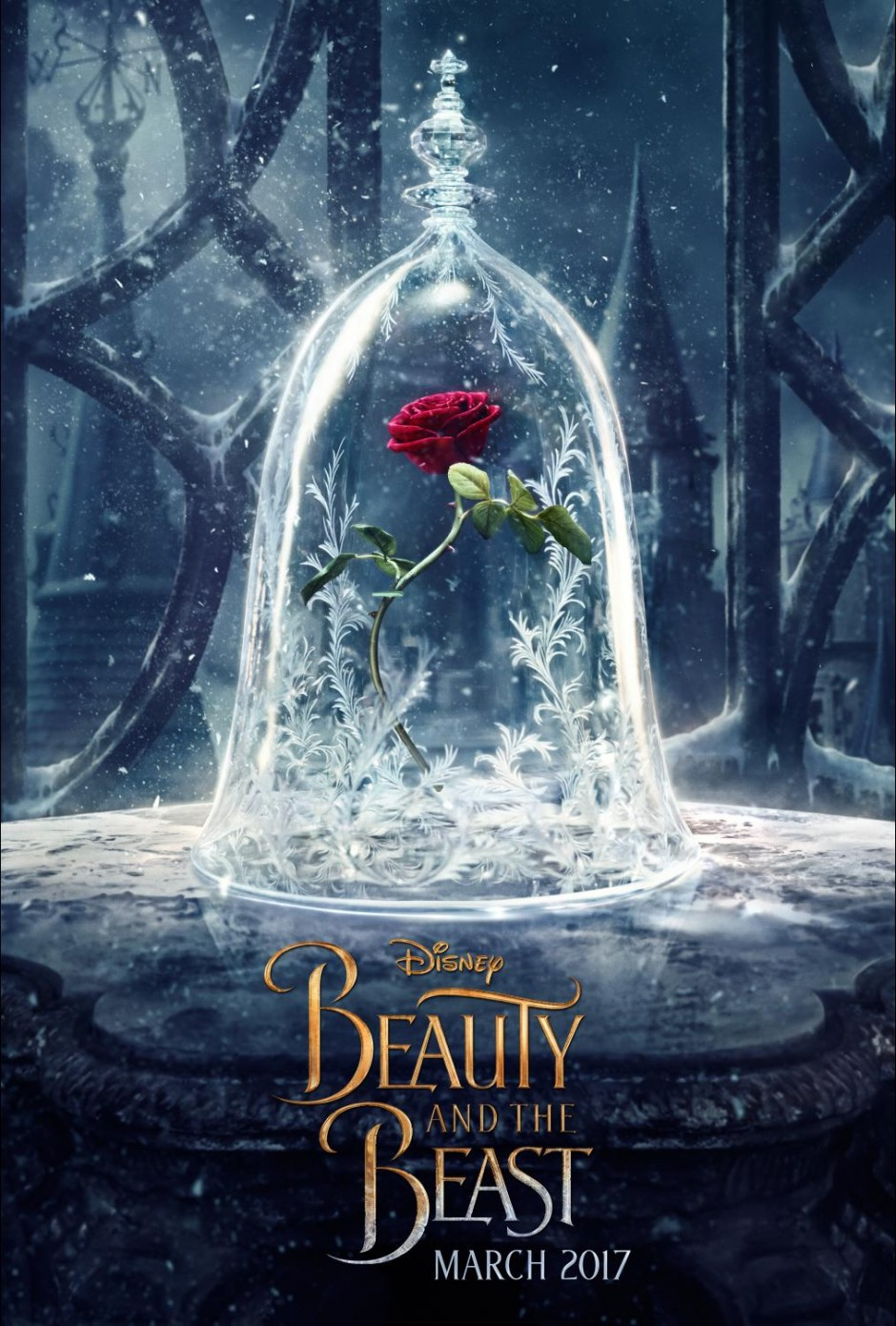 First Look at the Live Action Beauty and the Beast Disney Movie Poster