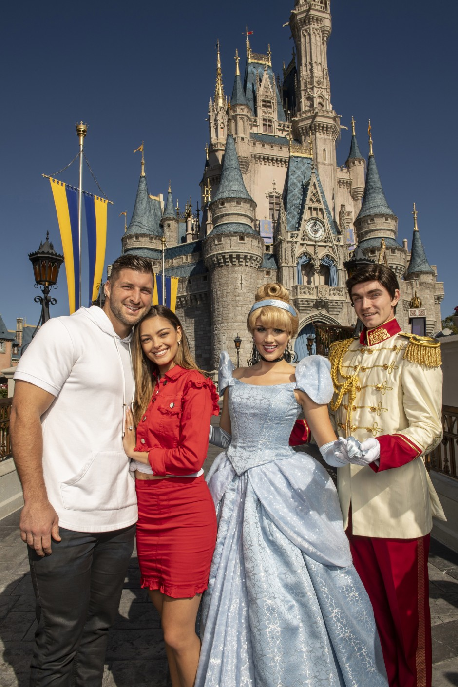 Tim Tebow Celebrity Sighting in the Magic Kingdom at Walt Disney World