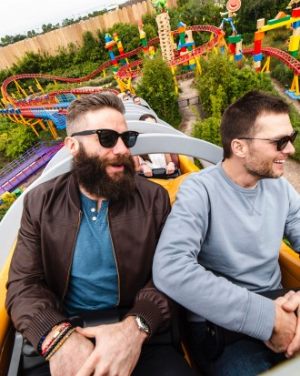 Tom Brady and Julian Edelman Goof Off at Disney After Super Bowl Victory Win