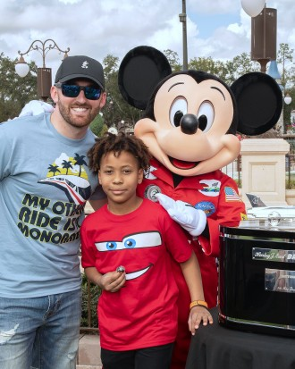 Celebrity Sightings - Daytona 500 Champion Austin Dillon Spotted in the Magic Kingdom
