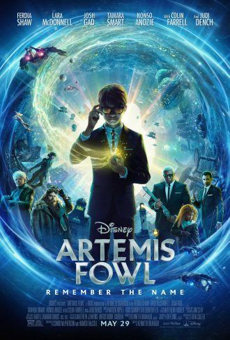 Movie poster for Disney's Artemis Fowl, released March 2, 2020