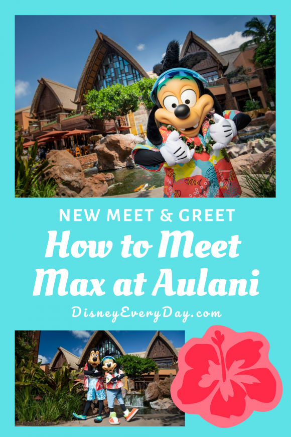 You can meet Goofy and his son Max at Disney's Aulani Resort in Hawaii