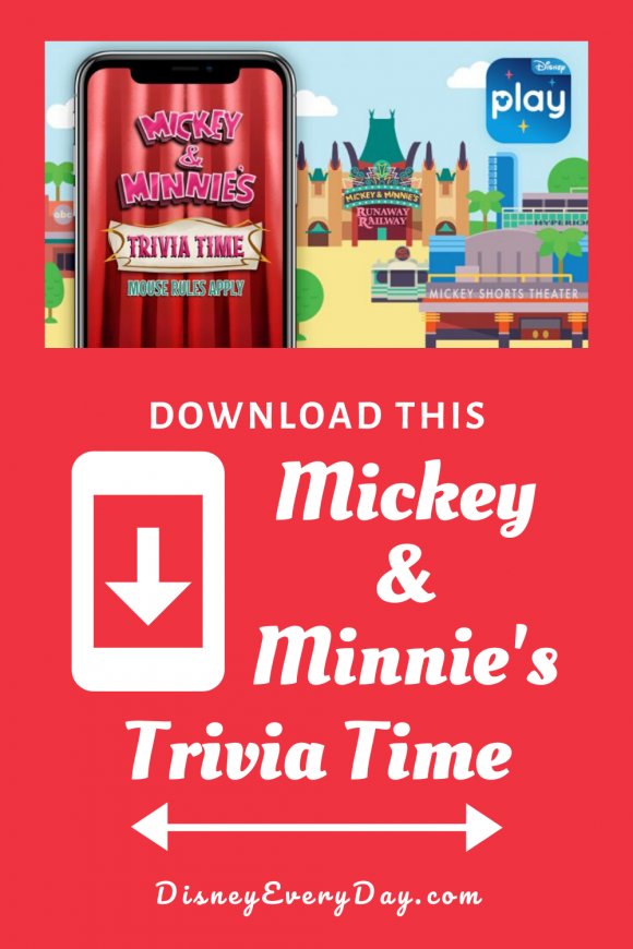 Mickey & Minnie's Trivia Time is a new game inside the Play Disney Parks App
