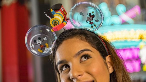 These wacky ears are part of the new merchandise released for the opening of Mickey and Minnie's Runaway Railway