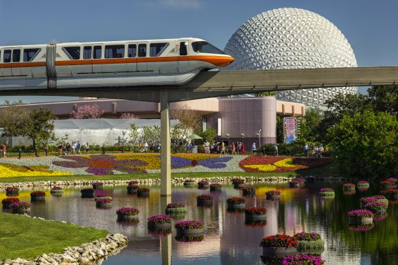 Floating gardens and brightly colored flowers adorn Epcot during the Flower and Garden Festival